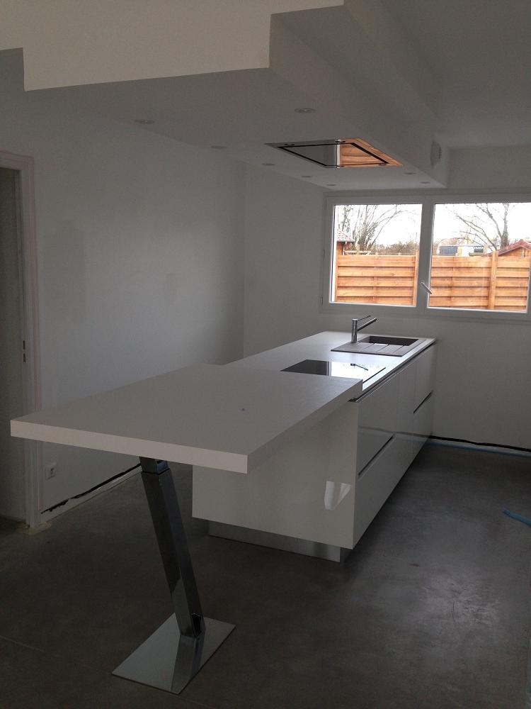 cuisine laqu e blanche cuisines habitat. Black Bedroom Furniture Sets. Home Design Ideas