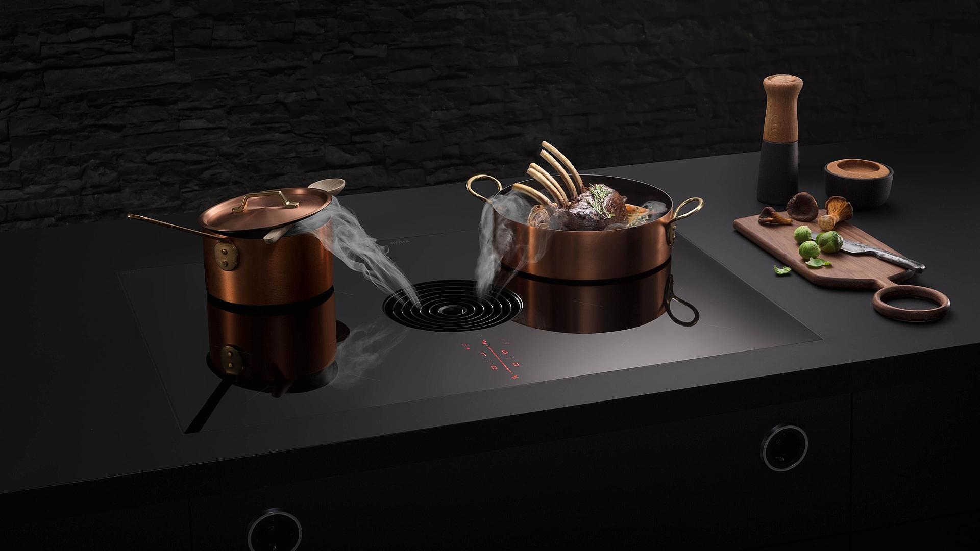 Nouvelle génération de table de cuisson induction aspirante BORA