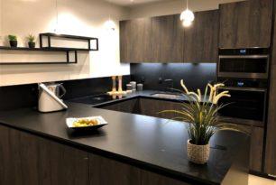 Nouvelle réalisation cuisine bois et granit
